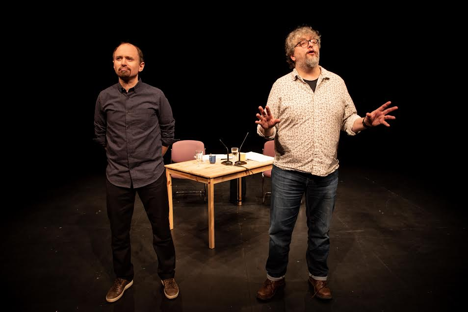 Andy Smith and Amund Sjølie Sveen in Commonism at Birmingham REP. Photo: Graeme Braidwood.