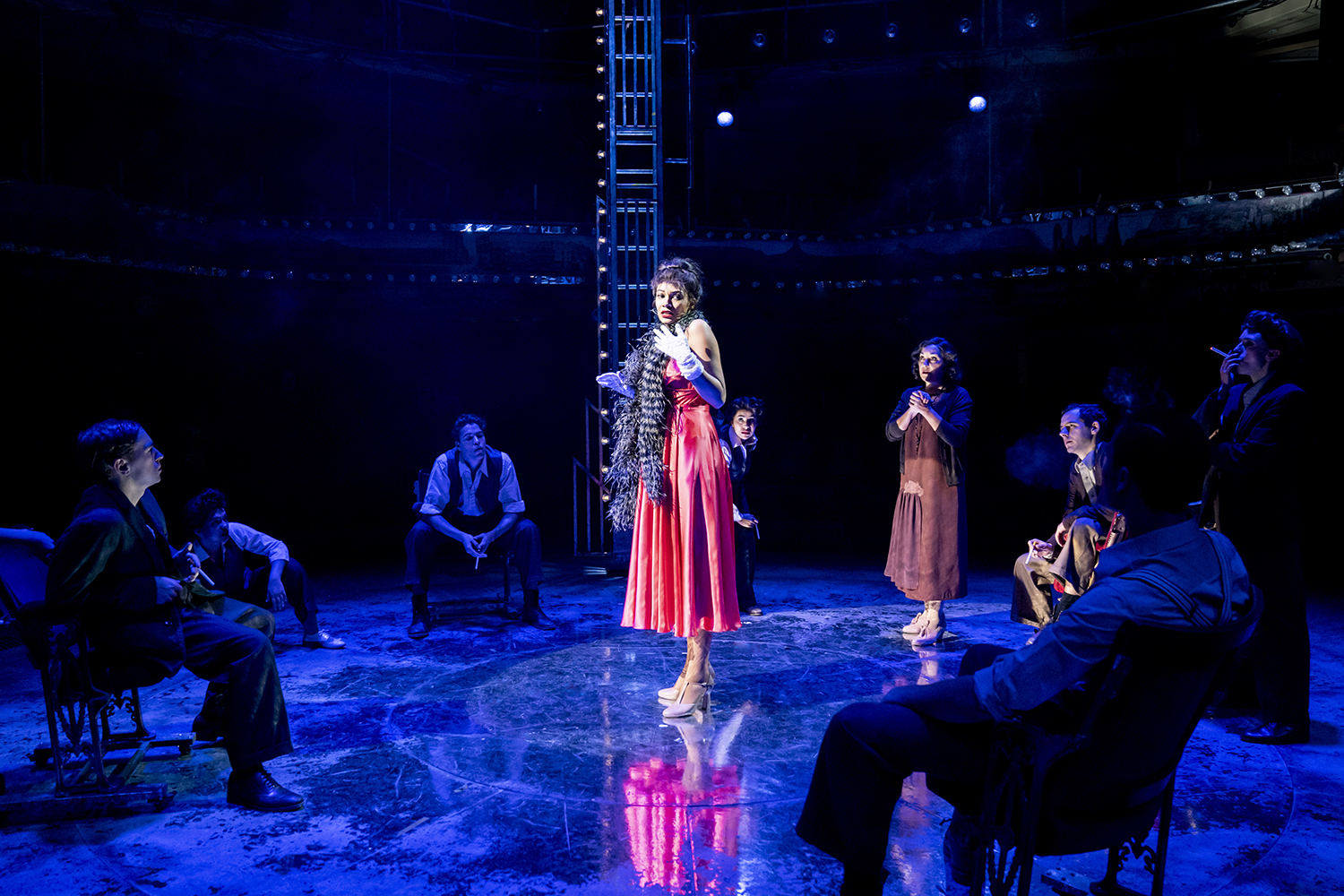Gypsy at Royal Exchange Theatre, Manchester. Design, Francis O'Connor; costume design, Gabrielle Dalton; lighting design, Colin Grenfell. Photo: Johan Persson.