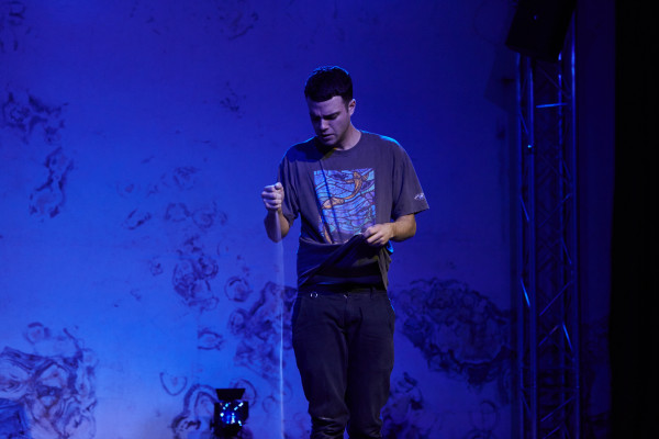 Tom Ross-Williams in Run at Vaults Festival 2016.
