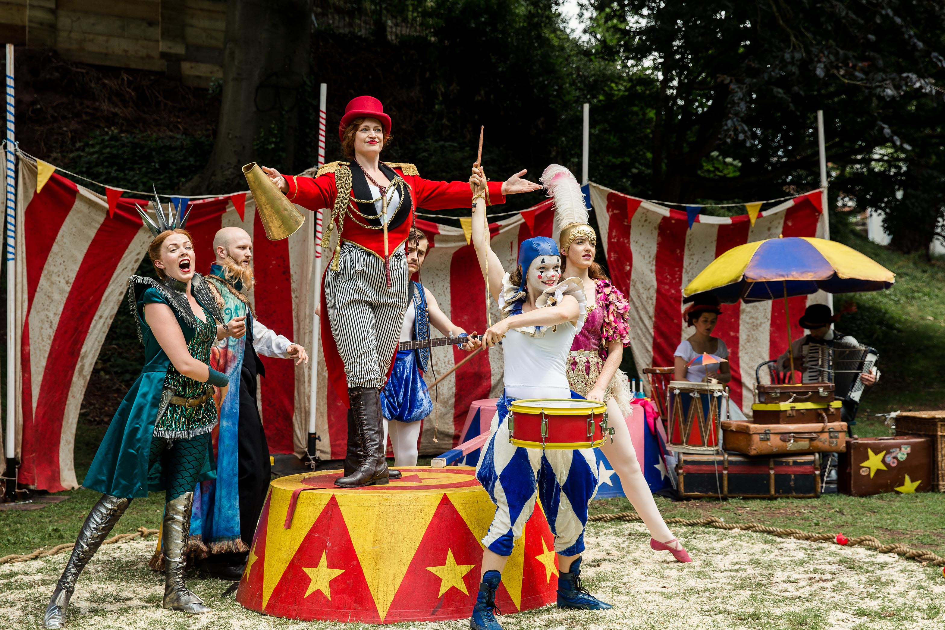 The Comedy of Errors at Rougemont Gardens, Exeter. Photo: The Other Richard.
