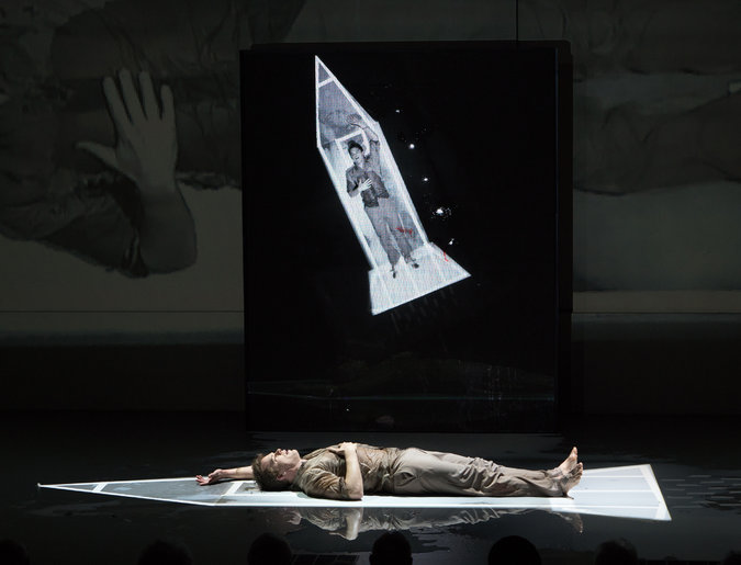 "David Bowie and Enda Walsh's ""Lazarus"" at the New York Theater Workshop. Photo: Sara Krulwich"