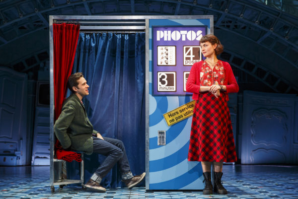 Adam Chanler-Berat and Phillipa Soo in Amélie. Photo: Joan Marcus