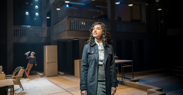 Nicole Deon in Standing at the Sky's Edge at Sheffield Crucible. Design, Ben Stones; lighting design, Mark Henderson. Photo: Johan Persson.