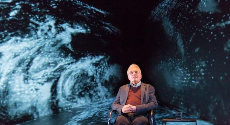 Professor Chris Rapley performing 2071 at the Royal Court
