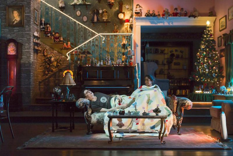 Tom Mothersdale and Anneika Rose in 'John' at the National Theatre