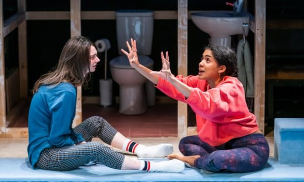 Scenes with girls at the Royal Court Theatre. Photo: Tristram Kenton.