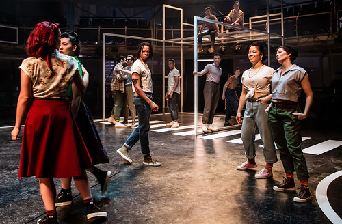 West Side Story at Royal Exchange, Manchester. Design, Anna Fleichle; lighting design, Lee Curran; costume design, Polly Sullivan. Photo: Richard Davenport.