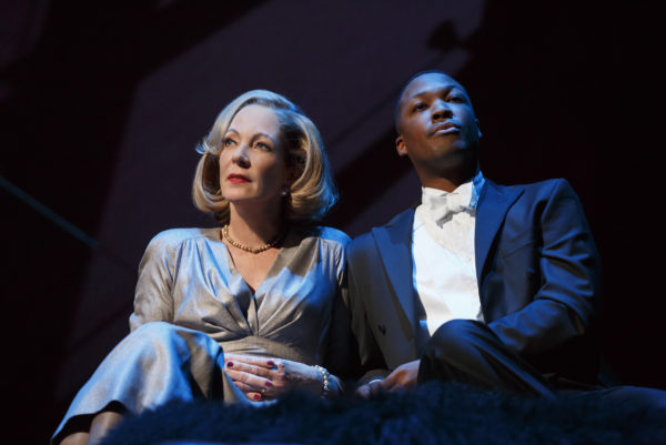 SAllison Janney and Corey Hawkins telling stories. Photo: Joan Marcus
