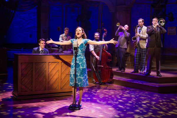 Corey Cott and Laura Osnes sing and dance the pain of WWII Photo: Jeremy Daniel)