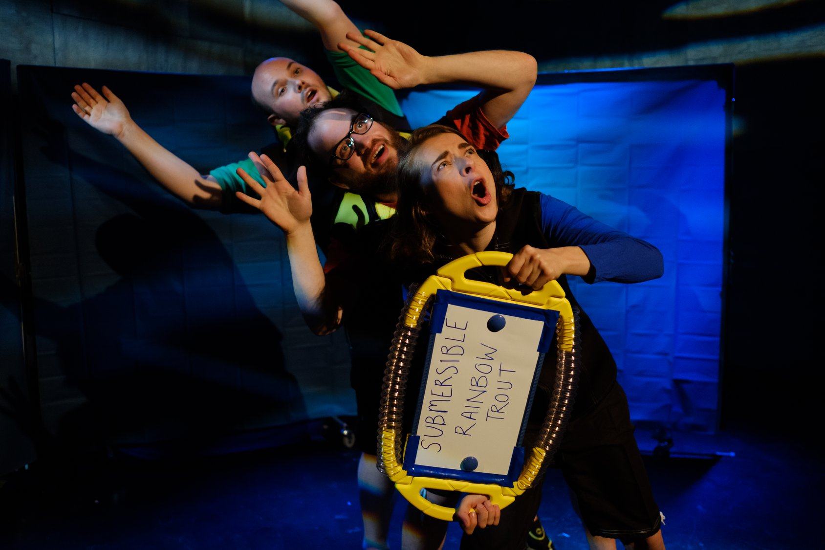 The Deep Sea Seekers at The Wardrobe Theatre, Bristol. Design, Nicola Holter. Photo: Jack Offord.