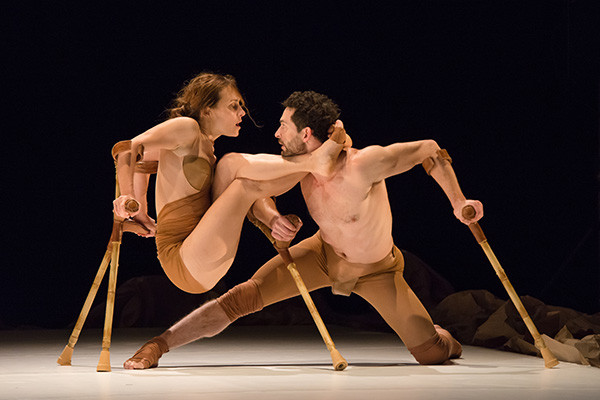 The 7 Fingers perform Triptyque at Sadler's Wells.