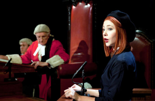 Witness for the Prosecution at the County Hall. Photo: Sheila Burnett.