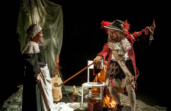 Angela Curran and Elizabeth Mansfield in The Restoration of Nell Gyn. Photo: Anthony Robling.