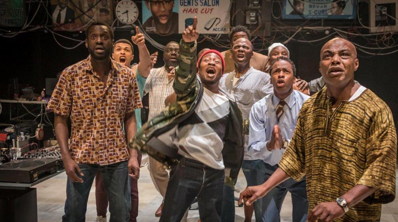 Barber Shop Chronicles at the National Theatre. Photo: Marc Brenner.