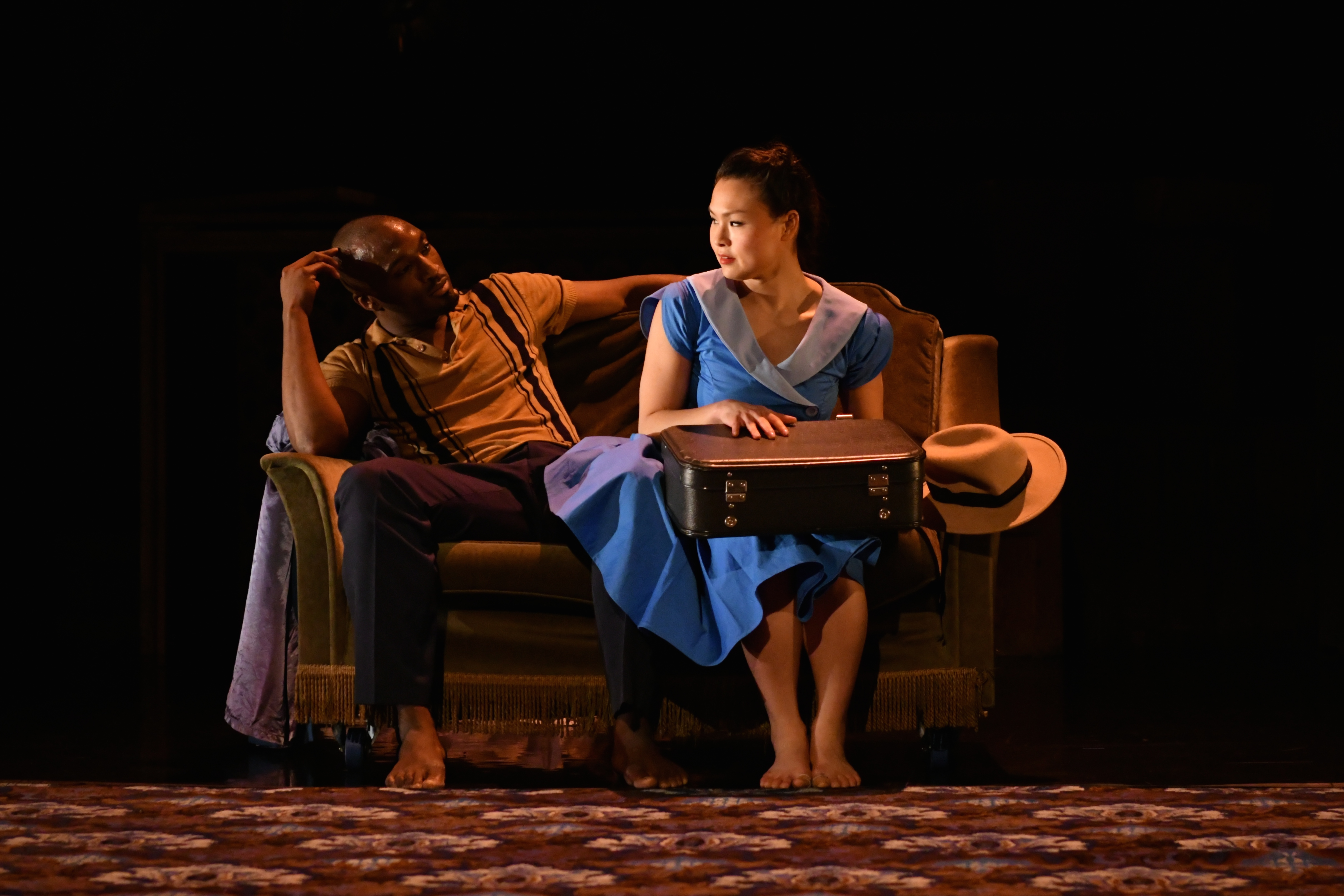 Prentice Whitlow and Vanessa Vince-Pang in Windrush: Movement of the People at York Theatre Royal. Photo: Brian Slater.