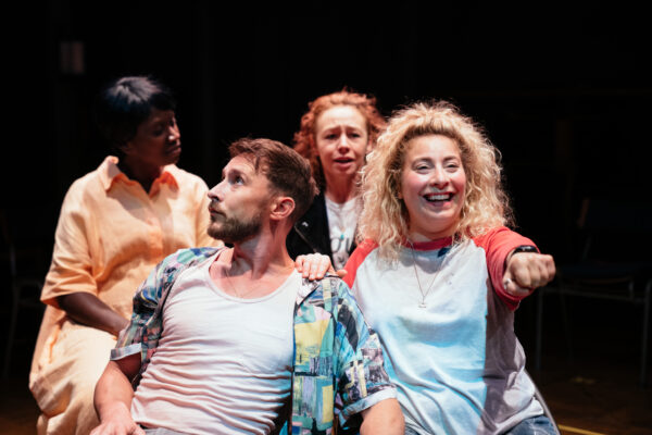 Naana Agyei-Ampadu, Peter Caulfield, Ellie Piercy and Jodie Jacobs in Last Easter by Bryony Lavery. Photo credit: Helen Murray