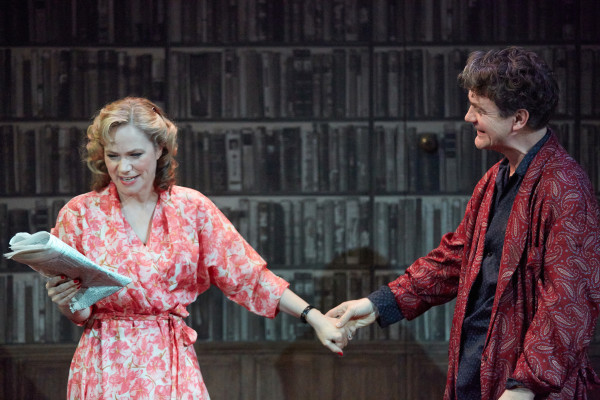 Abigail Cruttenden and Alexander Hanson in Accolade. Photo: Mark Douet