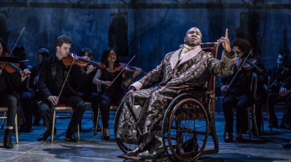 Lucian Msamati as Salieri in Amadeus at the National Theatre. Photo: Marc Brenner.