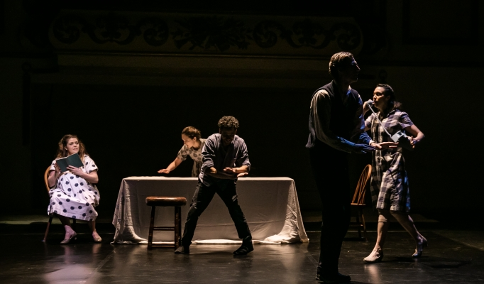 Birth at York Theatre Royal. Lighting design, Katharine Graham; costume design, Malik Ibheis. Photo: Richard Davenport.