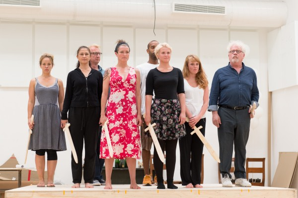 The cast of Candide in rehearsal. Photo: Manuel Harlan