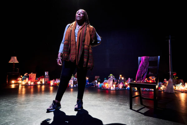 Until the Flood by Dael Orlandersmith at Arcola Theatre. Photo: Alex Brenner.