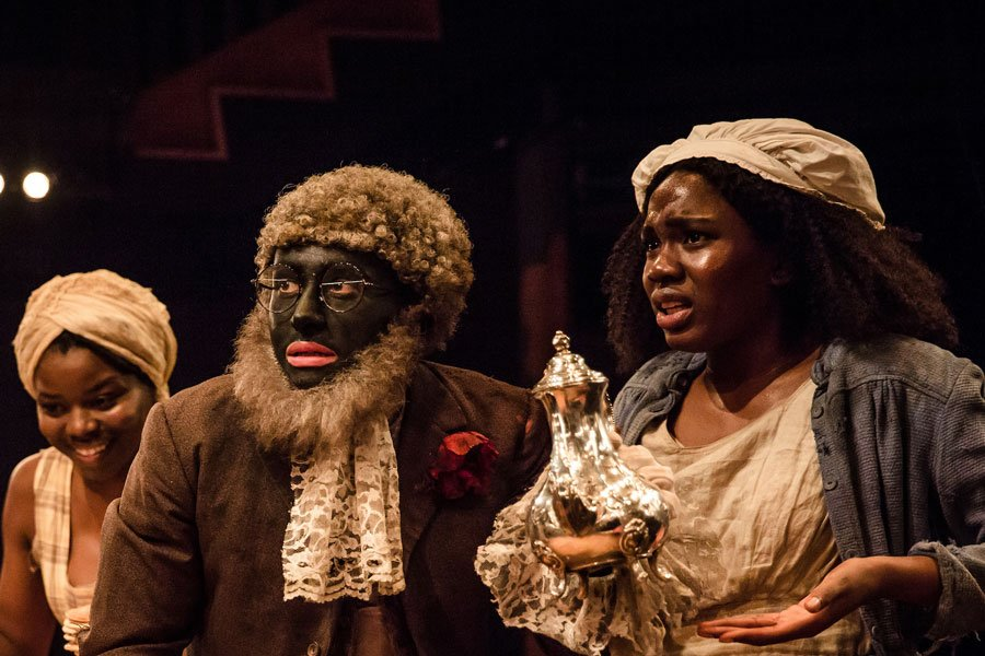 Emmanuella Cole, Alistair Toovey and Vivian Oparah in 'An Octoroon' at Orange Tree Theatre. Photo: The Other Richard.