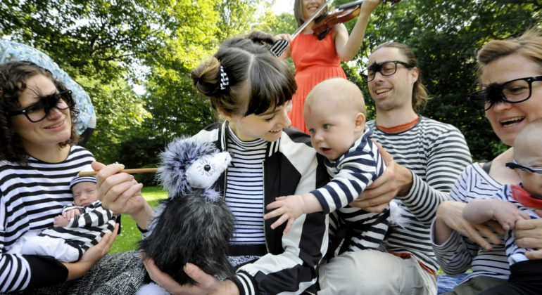 'Hup', a musical show for babies at Edinburgh Festival. Credit: Colin Hattersley