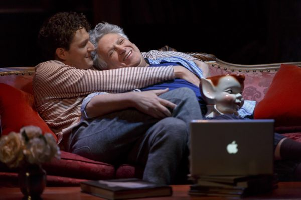 Gabriel Ebert and Harvey Fierstein in Gently Down the Stream. Photo: Joan Marcus