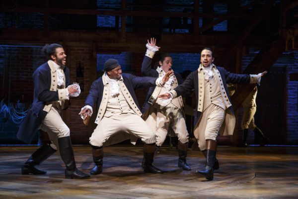 Hamilton in performance. Photo: Joan Marcus
