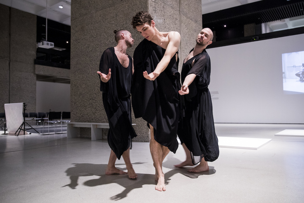 Ghost Trio, part of Trajal Harrell: Hoochie Koochie at the Barbican. Photo: Tristan Fewings/Getty Images.