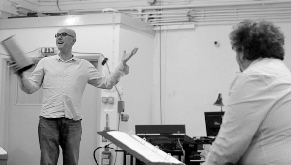 Tim Crouch and Andy Smith in rehearsals.