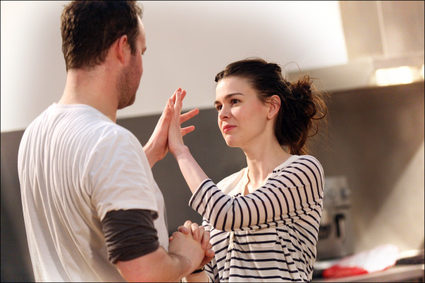 The cast of The Winter's Tale in rehearsals. All photos by Sheila Burnett.