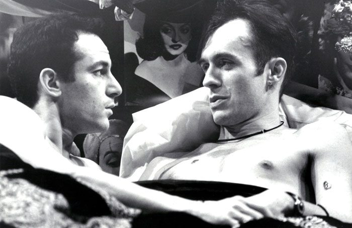 Jason Isaacs and Stephen Dillane in the 1993 National Theatre premiere of Angels in America. Photo: John Haynes