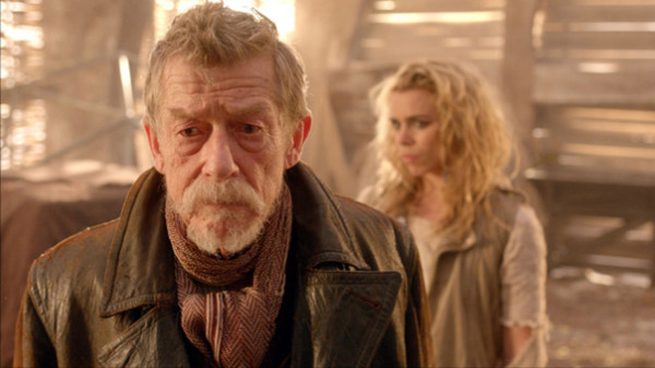 John Hurt and Billie Piper in The Day of the Doctor. Photos: BBC