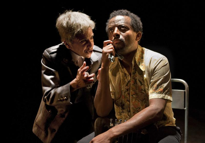 Kathryn Hunter and Temesgen Zeleke perform The Emperor at Young Vic Theatre