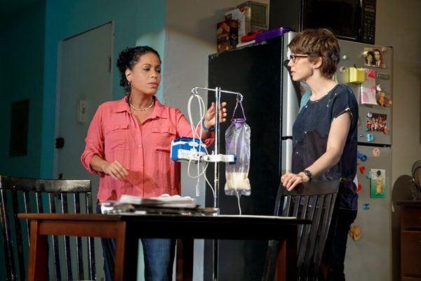 Liza Colón-Zayas & Carrie Coon in Mary Jane. Photo: Joan Marcus