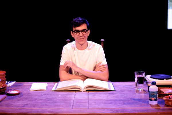 Xavier de Sousa performing POST at the Ovalhouse. Photo: Tom Walden.