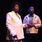 Mncedisi Shabangu and Atandwa Kani in Sizwe Banzi is Dead - photo by Ruphin Coudyzer