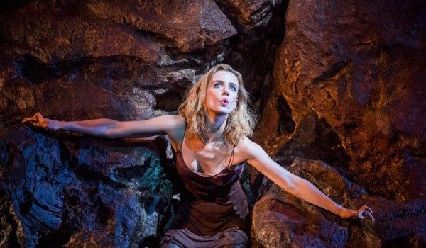 Lisa Dwan performing No's Knife at the Old Vic. Photo: Tristram Kenton.