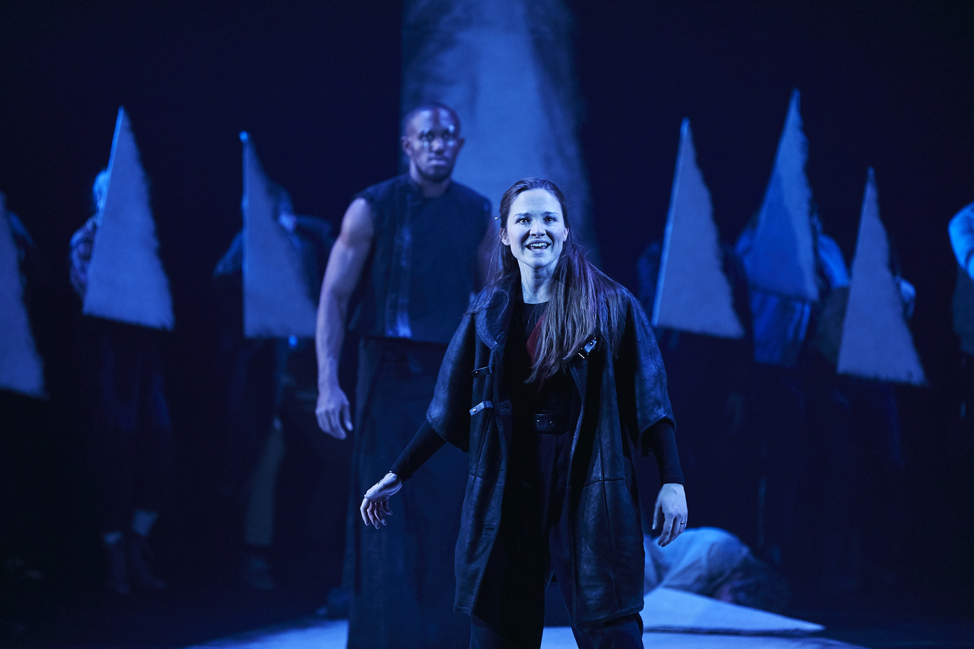 Oseloka Obi and Olivia Dowd in Macbeth at the Garrick Theatre. Photo: The Other Richard.