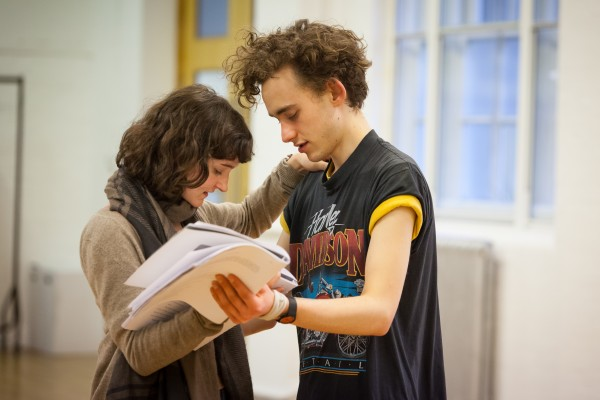 Olly Alexander in rehearsals for Peter and Alice. Photo: Johan Persson