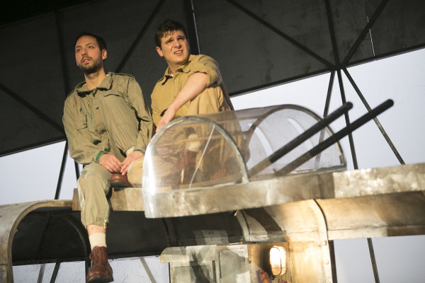 Philip Arditti and Chris Price in Catch-22 at Northern Stage. Photo: Mark Savage