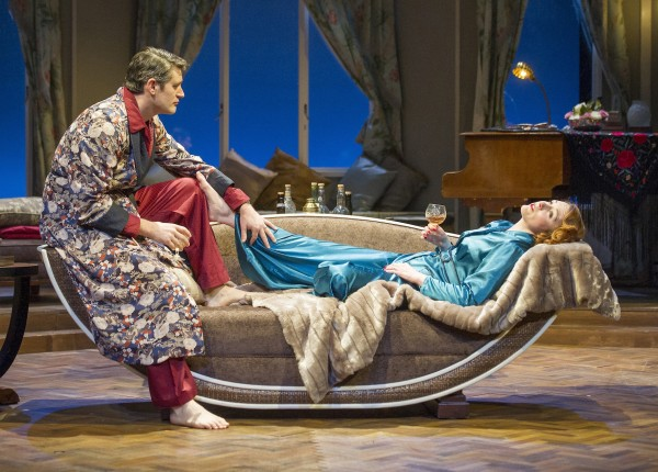 Tom Chambers and Laura Rogers in Private Lives at Theatre Royal Brighton. Photo: Alastair Muir.