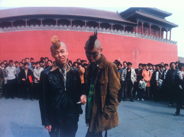 Punk band 'Brain Failure' in Tiennemen Square, Paper Airplane © Zhao Liang