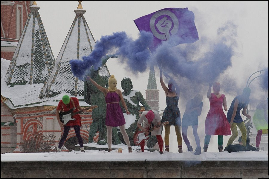Pussy Riot protest in Moscow's Red Square. Photo: Denis Bochkarev