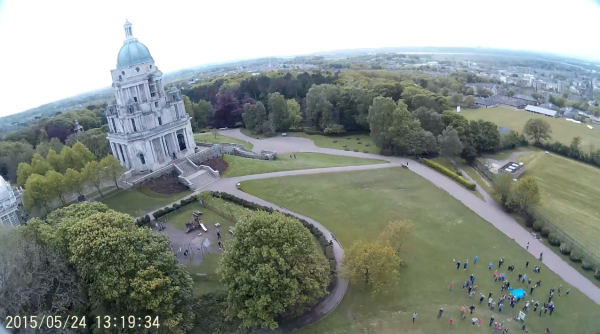 The view from above Williamson Park in Lancaster