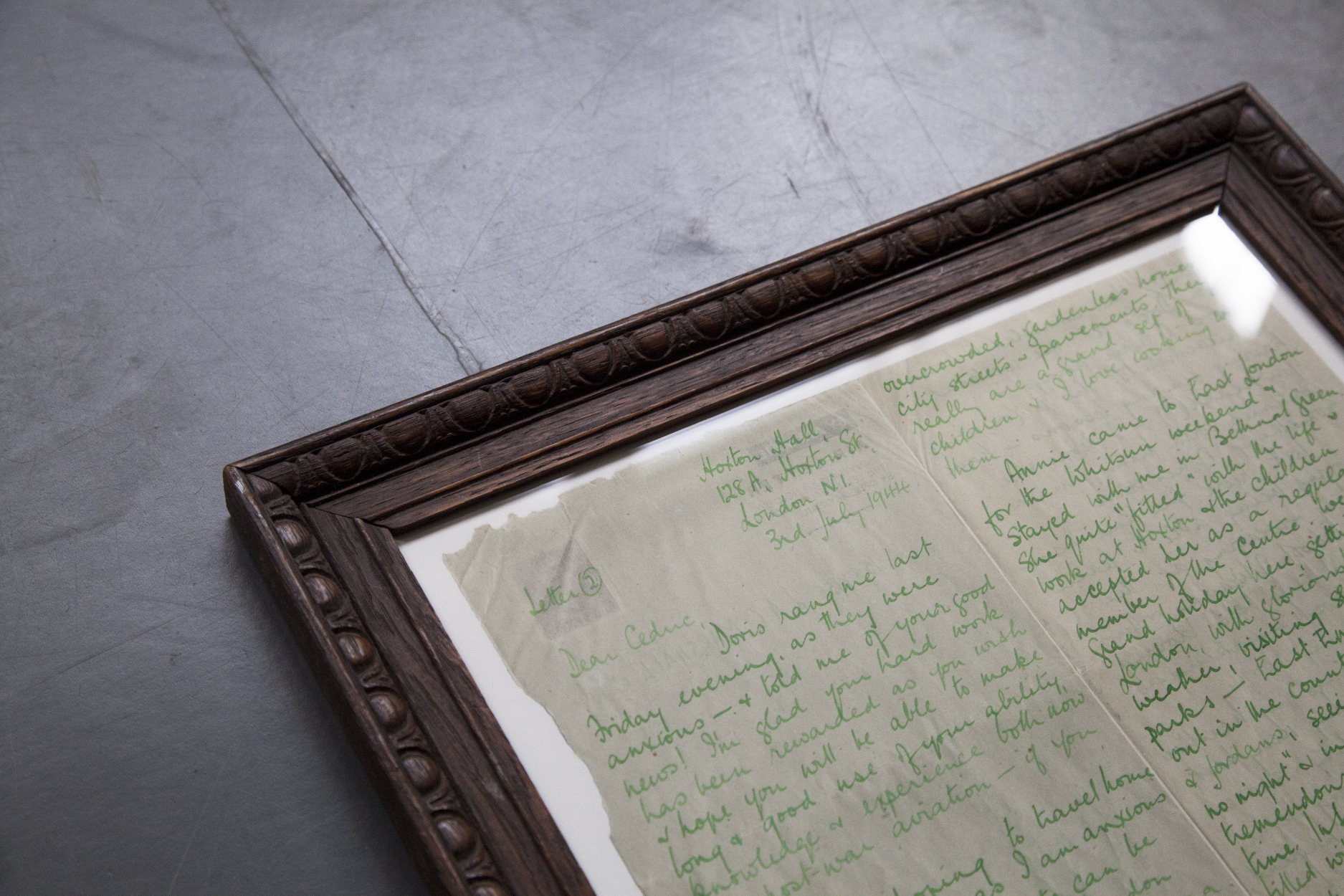 Handwritten documents from the Hoxton Hall archive. Photo: Minyung Im