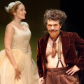 Sophie Russell as Essie and Miltos Yerolemou as Boris Kolenkhov in YOU CAN&#039;T TAKE IT WITH YOU by George S Kaufman and Moss Hart.  Photo - Jonathan Keenan