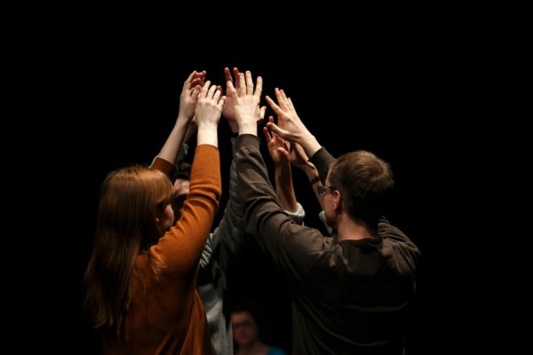 Standing as one in The Fever. Photo: Maddie McGarvey