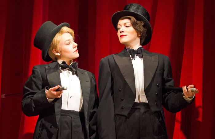 Sally Messham and Laura Rogers in Tipping the Velvet. Photo credit: Tristram Kenton